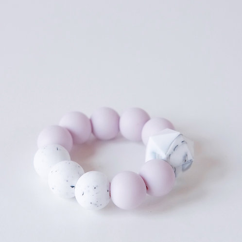 Baby Silicone Teething Toy Lilac - Blossom & Bear