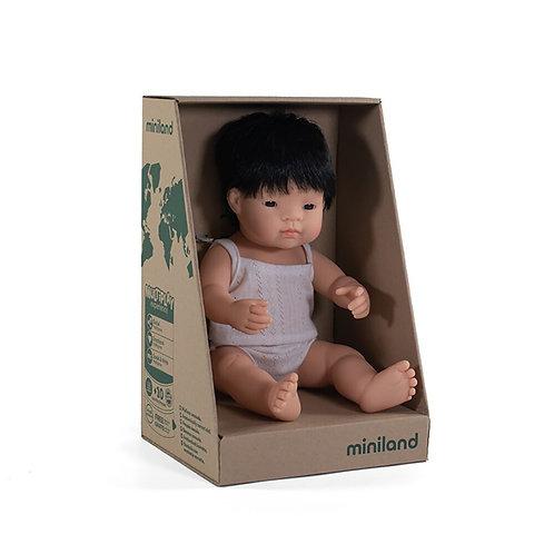 Miniland 38cm Toddler Doll - Asian Boy