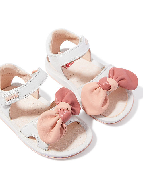 Camper Twins Leather Toddler Sandals Off White first walkers