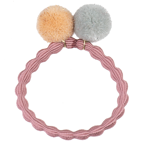 Kknekki Pom Pom Hair Tie Dusty Rose
