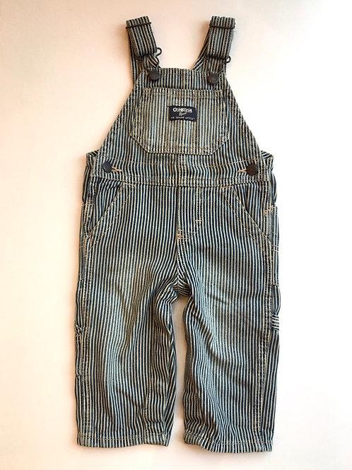 Vintage Original Osh Kosh Stripe Dungarees 9-12M denim Sacred Hawk