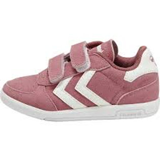 Hummel Victory II Suede Heather Rose pink trainers