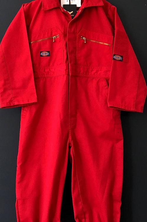 Vintage Original Dickies Boiler Suit Red - Age 7-8
