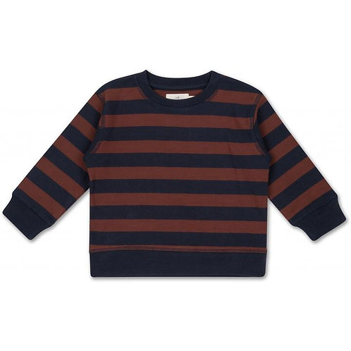 Konges Slojd Lou Sweatshirt Navy Mocha Stripe jumper