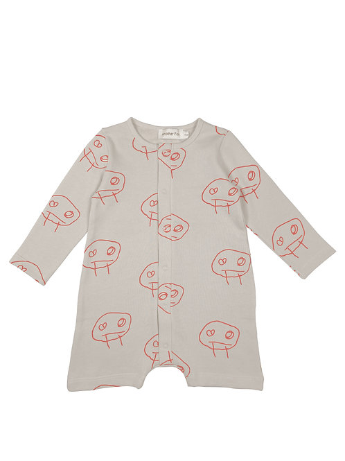 Freds Face Baby Romper - Another Fox