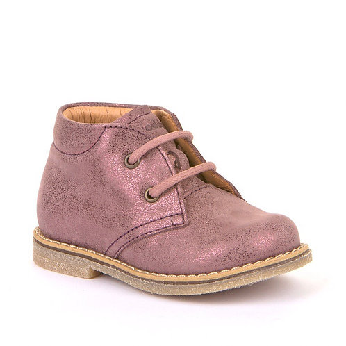 Froddo Toddler Lace Up Boots  Pink Shimmer boots
