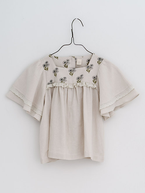 Laura Blouse in Poppy Floral - Little Cotton Clothes