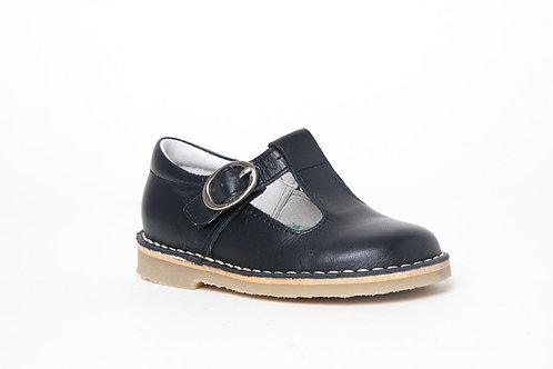 Petasil Crosspatch T-Bar Buckle Navy shoes