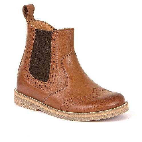 Froddo Teen Chelsea Boot Cognac tan brown leather