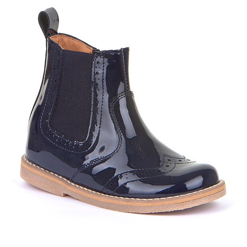 Froddo Classic Chelsea Boots Patent Navy