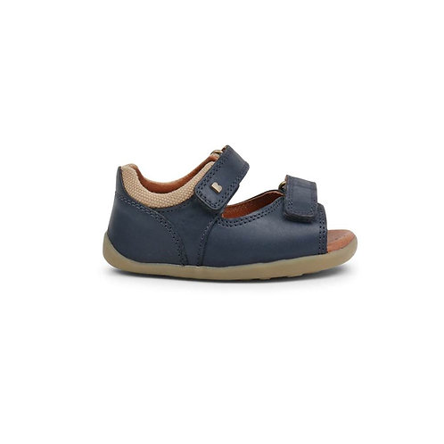 Bobux Step Up Driftwood First Sandal Navy shoes