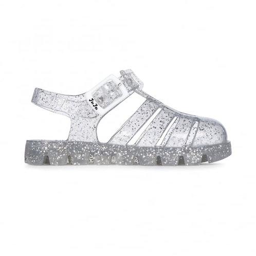 Juju Jelly Sandals - Clear Sparkle