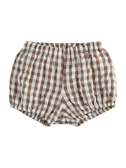 Poppy Bloomers Gingham Nut Brown - Little Cotton Clothes