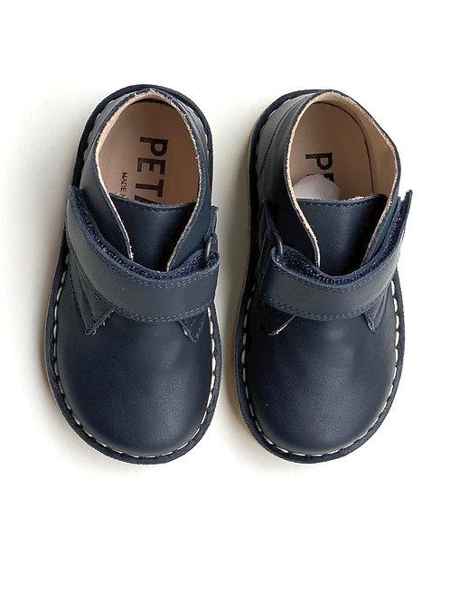 Petasil Kal Velcro Boot Navy Leather shoes