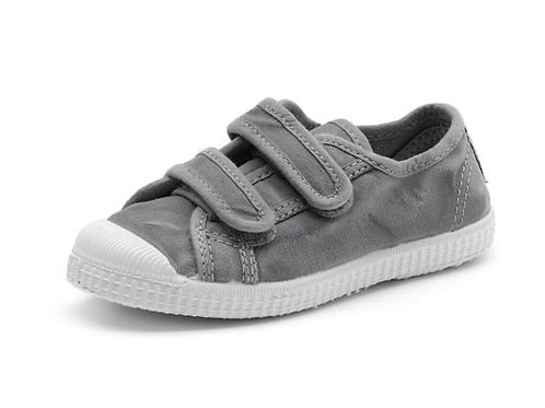 Cienta Velcro Pumps - Washed Charcoal
