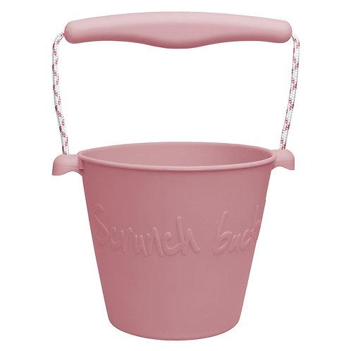 Scrunch Bucket - old rose pink beach toys