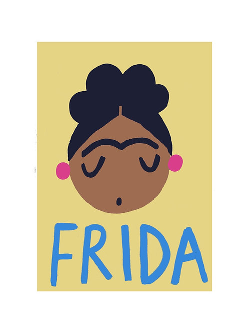 Frida Wall Print by Wolfnoodle