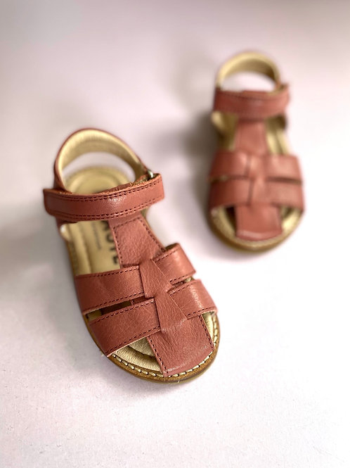 kids leather petasil saltwater fisherman sandals tan brown cognac