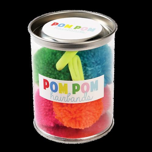Pom Pom Hair Elastics - 5 Pack