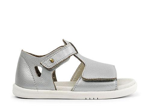 Bobux SU Mirror First Walker Sandals - Silver