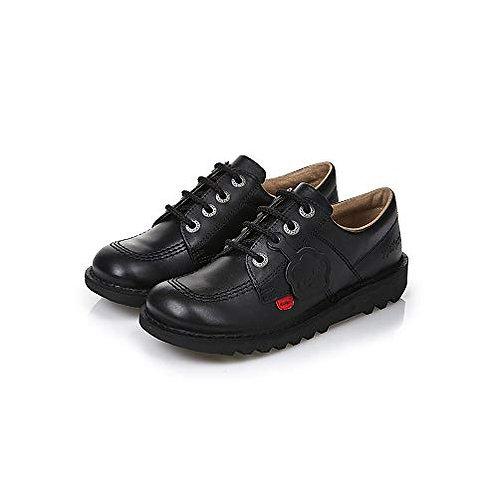 Kickers Kick Lo Classic - Black Leather