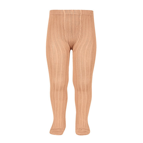 Condor Ribbed Tights Peach