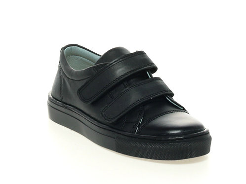 Petasil Pose School Shoes - Black Leather