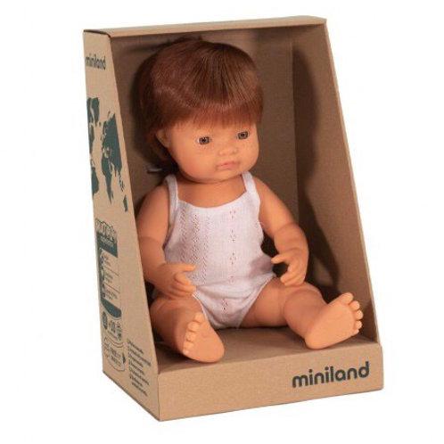 Miniland 38cm Toddler Doll - Redhead Boy