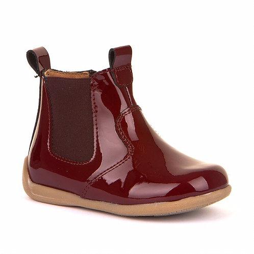 CoFroddo Toddler Jodhpur Boots Patent Bordeaux purple burgundy