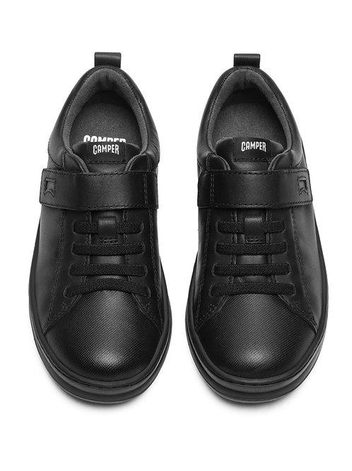 Camper Kids Runner Black School Shoes - Elasticated boys