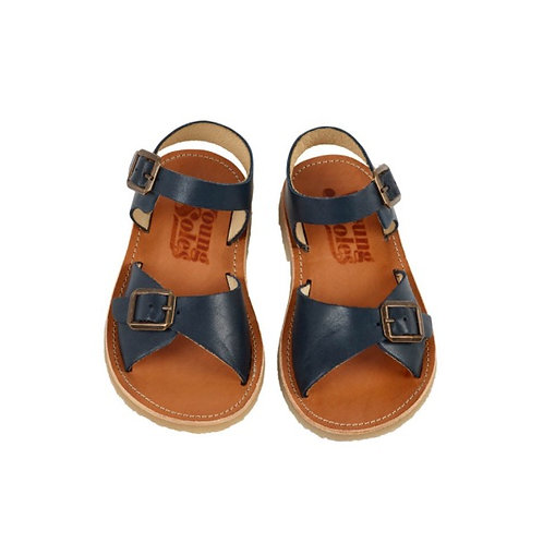 Young Soles Sonny Sandal Navy Leather