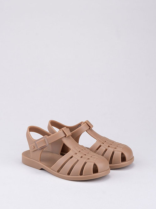 Igor Classica Snap Fastening Jelly Shoe - Taupe