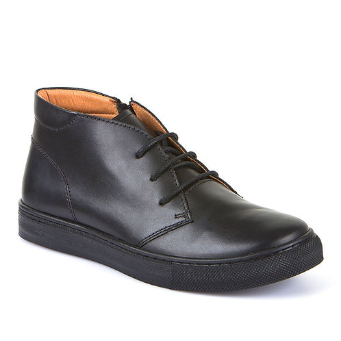 Froddo Leather Midi Lace Up School Shoe boots black