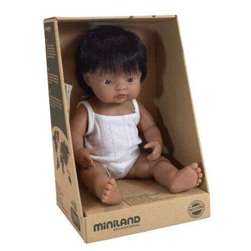 Miniland 38cm Toddler Doll - Hispanic Boy