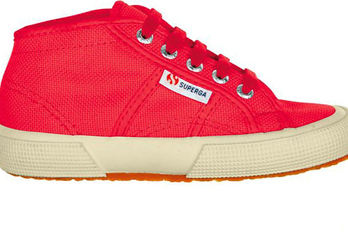 Superga Mid Top 2754JCOT Red trainers shoes