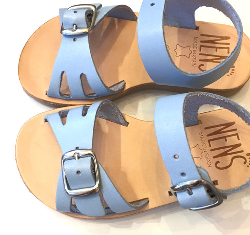 ab3a63fb5 NENS Unisex Leather Buckled Sandals - Blue