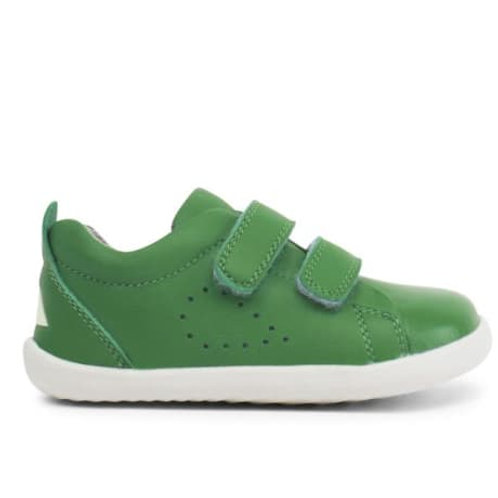 Bobux Grass Court Step-Up Emerald Green trainers shoes