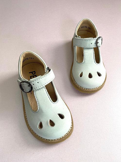 Petasil Cindy Leather T-Bar  Cloud Blue/Grey kids mary janes shoes vintage