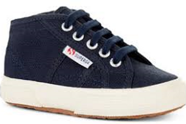 Superga Navy Classic Lace up Mid Tops shoes trainers