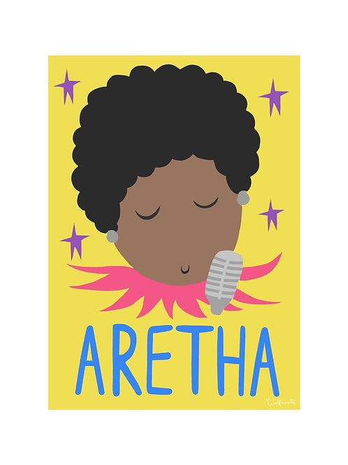 Aretha Wall Print by Wolfnoodle