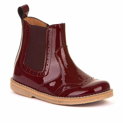 Froddo Classic Chelsea Boots Patent Bordeaux