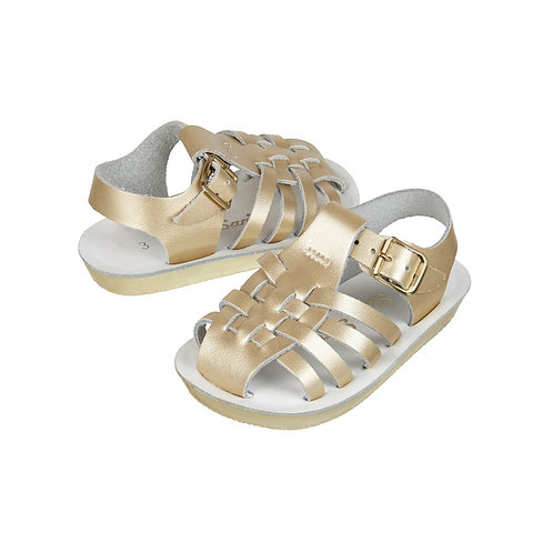 Sun san SaltWater Sailor Sandal - Gold baby summer shoes
