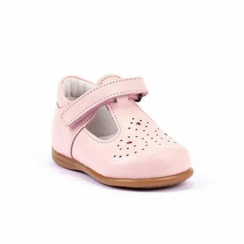 Bobell Soft Leather First Walker T-Bars - Pink