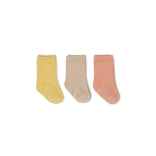 Konges Slojd 3 Pack Lurex Socks - Sparkle Bloom