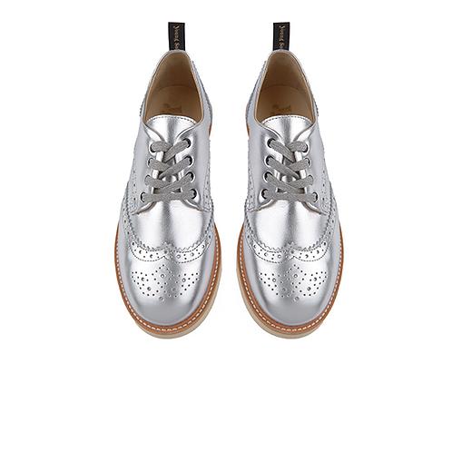 Young Soles Brando brogue Silver shoes