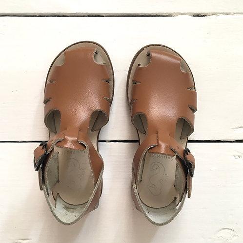 Samphire Closed Toe Unisex Sandals Cognac brown tan