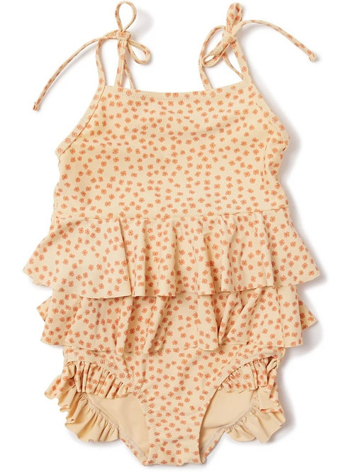 Konges Sløjd Manuca Frill Swimsuit - Buttercup Orange kids costume