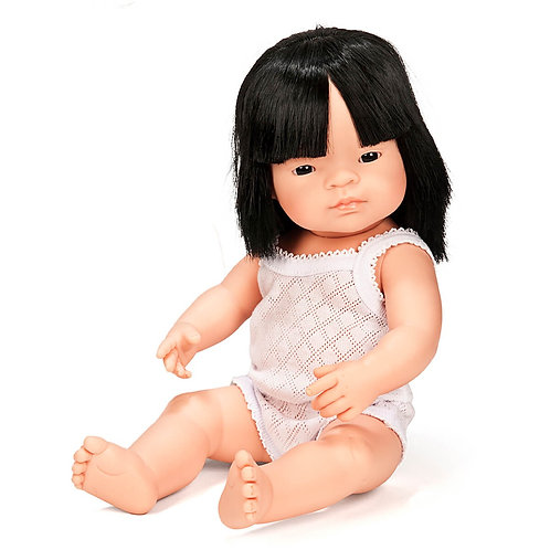 Miniland 38cm Toddler Doll - Asian Girl