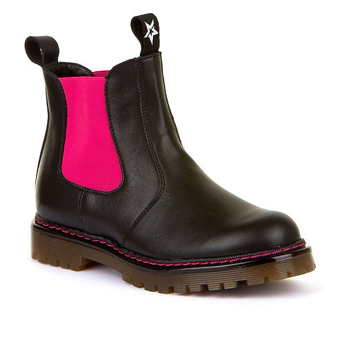 Froddo Chunky Chelsea Boot Black Pink boots