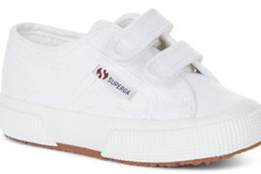 Superga Classic 2750 JStrap Velcro White trainers shoes